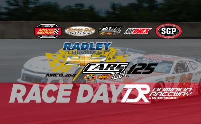 Radley Chevrolet CARS Tour Race, June 19, 2021. Gates 5pm, Green Flag 7pm